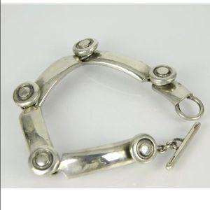 Solid Sterling Silver Lisa Jenks link bracelet